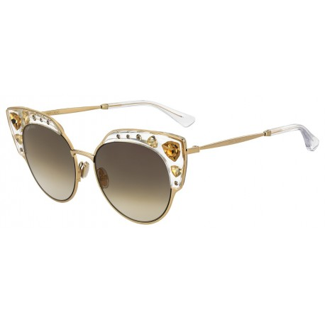 Jimmy Choo AUDREY/S REJ CRYS GOLD CRYSTAL